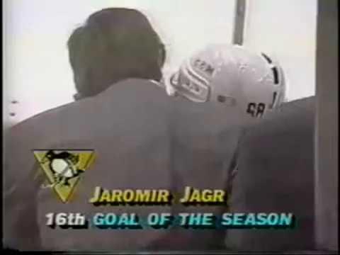 cb1b678e9d1 Jaromír Jagr first NHL hattrick!!! 2.2.1991 - YouTube