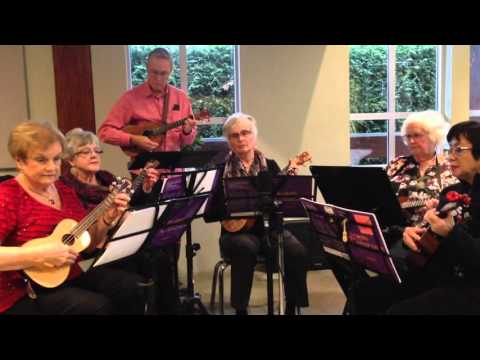 """Hornpipe"" by Handel - White Rock Uke performance Dec. 5, 2015"