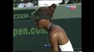 2001 Venus Williams VS Jelena Dokic Miami QF