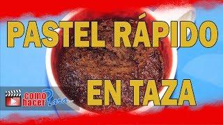 Pastel en una taza sin horno EN 2 MINUTOS! ⊳ Torta Fácil y Rápida