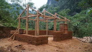 Ancient technique to build a house with nature materials-Simple but enough | Primitive Skills