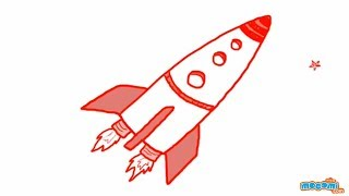 How to draw a Rocket (Step by Step Guide)   Mocomi Kids