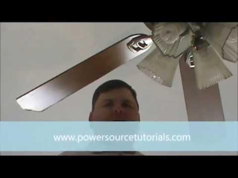 Take down ceiling fan - YouTube
