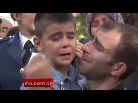 Şehidin 7 Yaşındaki Oğlu 'Amca Babamı Gömeceklermiş'