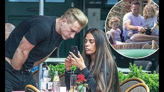 Katie Price's new man Kris Boyson puts on a crass display as she foots the bill during lunch