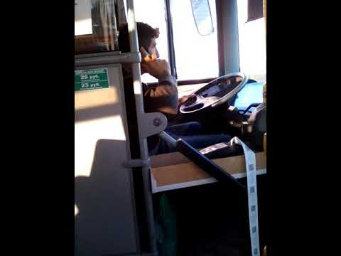 Типичный водитель автобуса в Ростове