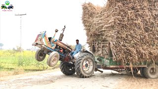 Tractor Wheeling | Crazy Driver Ford 4600 Fully loaded Trolley | Punjab Tractors