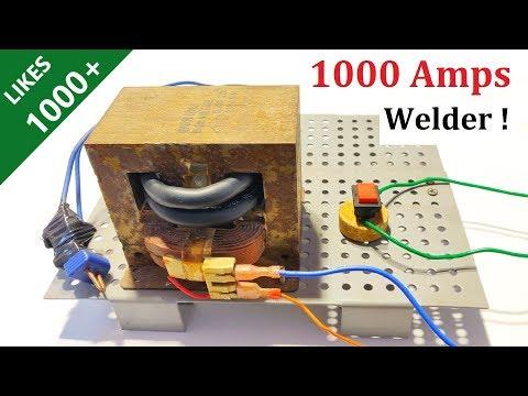 New Idea ! Make 1000 Amps Welding Machine with Microwave Transformer - High Current Welder