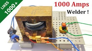 New Idea ! Make 1000 Amps Welding Machine with Microwave Transformer - High Current Welder