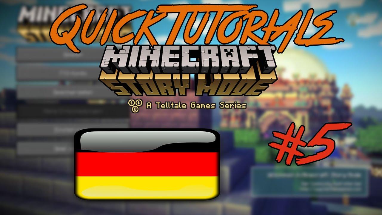 Minecraft Story Mode Deutsche Sprachausgabe