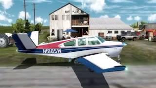 V-35B Bonanza, by A2A. VFR: (CEF4-CEJ4) Alberta, Canada!