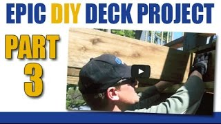 Epic Diy Deck Project- Part 3- Installing Joists, Brackets & Blocking