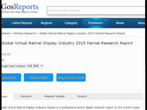 Global Virtual Retinal Display Industry 2015 Market Research Report