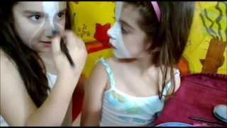 The Werecat Sisters Monster High Makeup Tutorial(Το μακιγιάζ των αδελφών Περσεφόνης και Μέλοντυ)