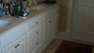 Before - Kitchen Island & Bathroom Vanity Makeover