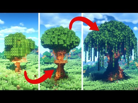 Treehouse Minecraft Builds | BASIC Vs INTERMEDIATE Vs EXPERT