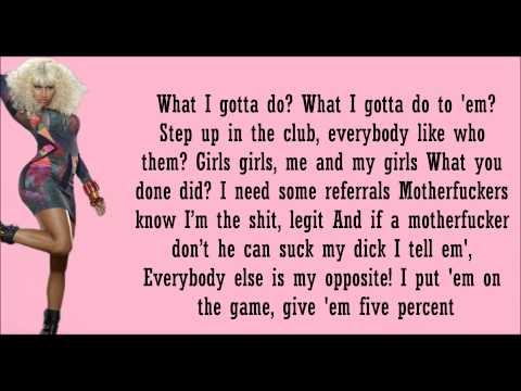 Nicki Minaj ft Ciara- Im Legit Lyrics