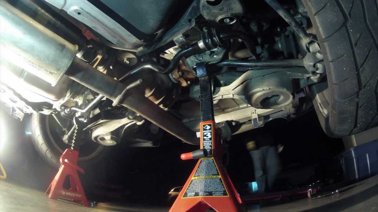 350z Time Lapse Removing Suspension And Exhaust Youtube