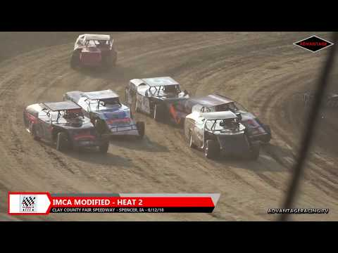 Stock Car/Modified Heats - Clay County Speedway - 8/12/18