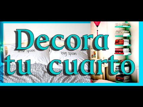 Como decorar mi cuarto diy ideas f ciles y bonitas youtube - Como pinto mi habitacion ...