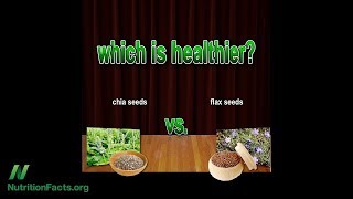 Porovnání lněného a chia semínka