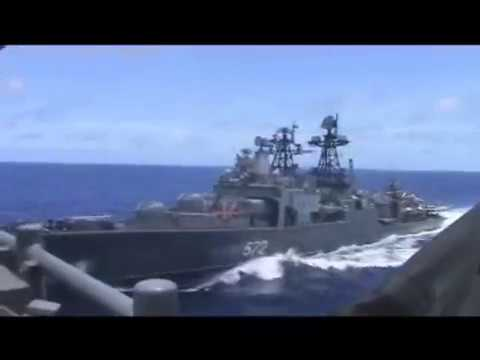 Watch dramatic video of US and Russian warships nearly colliding - Vox