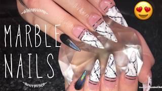 Marble Nails Tutorial | Acrylic Nails