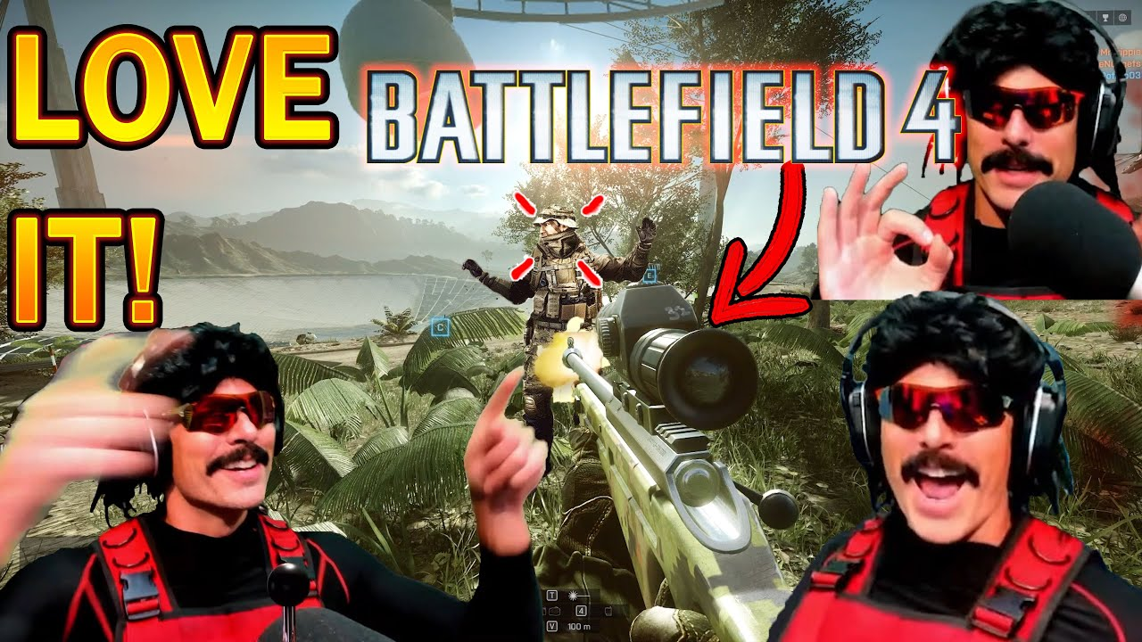 DrDisrespect LIKES Sniping in Battlefield 4 & CARRIES Team to VICTORY! (Battlefield 2042 Warm Up!)