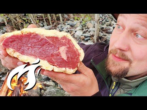 Butter Aged Steak auf offenem Feuer ASMR gegrillt 🔥🔥🔥