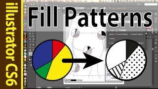 Using Patterns Swatches In Illustrator (points & Lines) - Cs6 Tutorial!