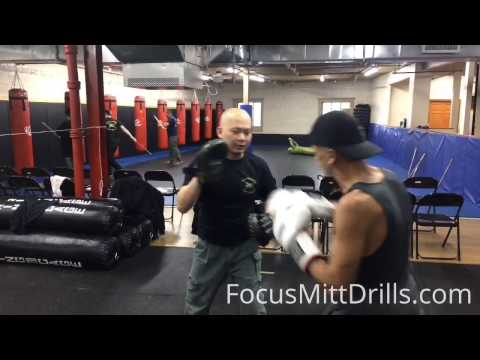 Basic Focus Mitt Drill - 8 Count Boxing Pad Work Combo 43