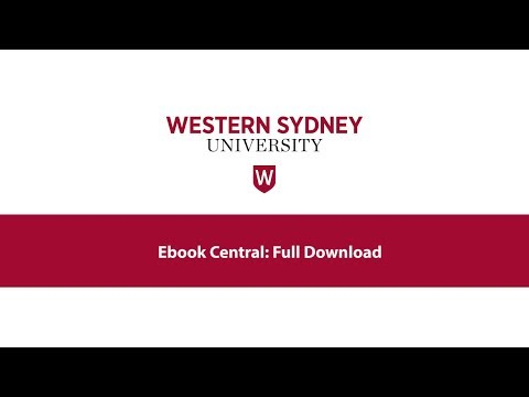 Ebook Central: Full Download