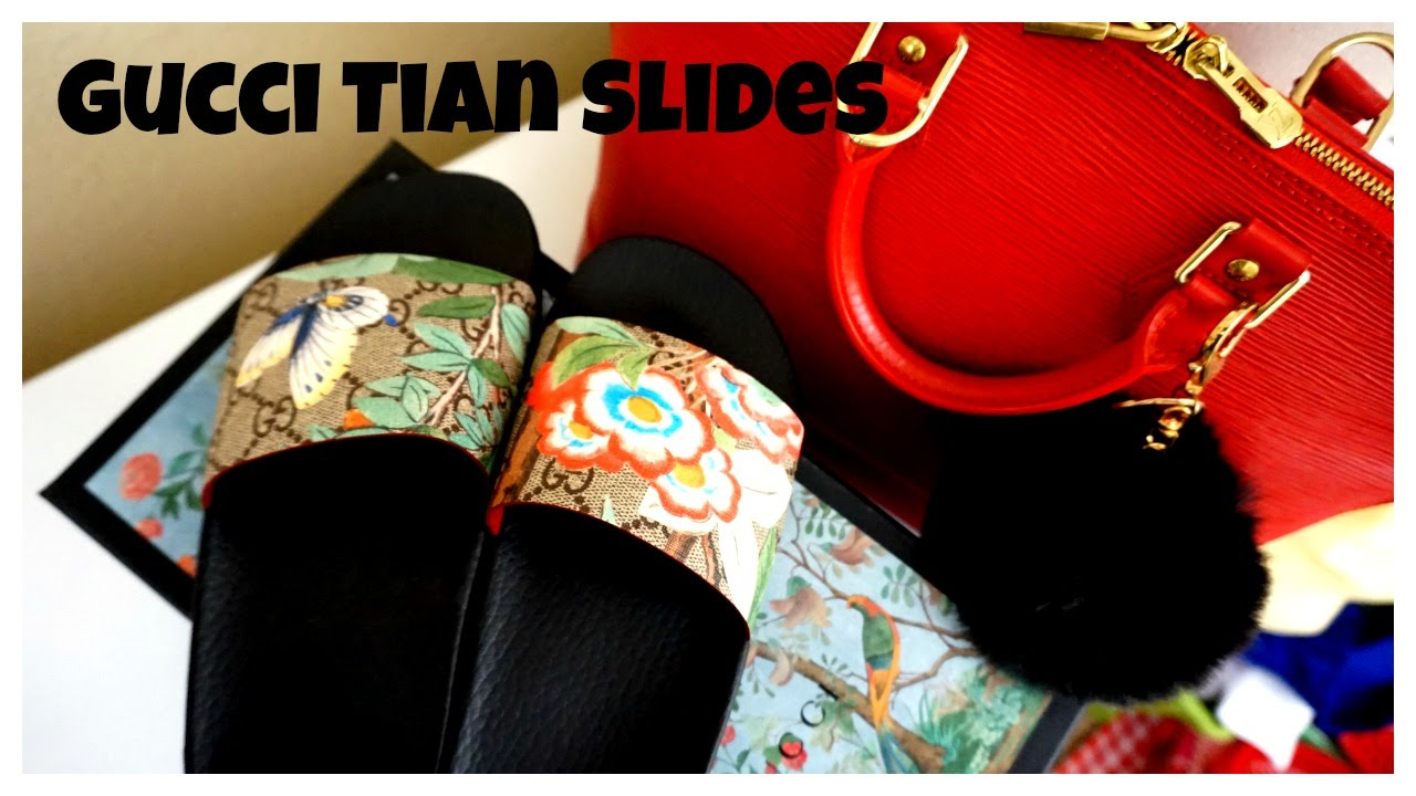 29bbffd409c4 Reveal and Unboxing!!! Gucci Tian Slides - YouTube