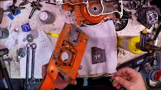 Husqvarna 272 build, part 1, crankcase assembly - bolt for bolt!