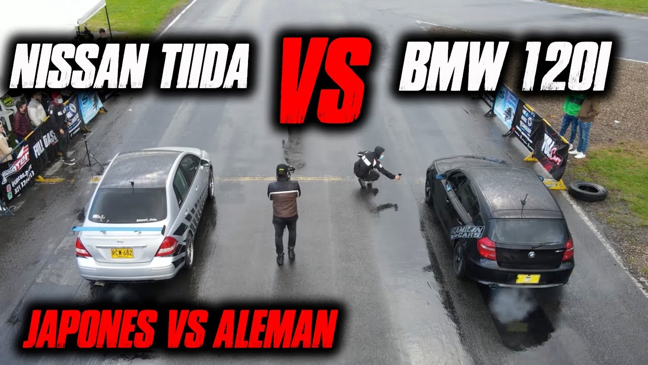ALEMAN VS JAPONES!! Bmw 120i VS Nissan Tiida