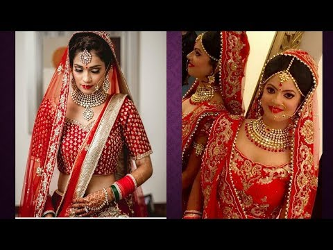 Indian Gorgeous Wedding Outfits And  Jewellery Design