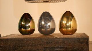 Crushing Titanium, Aluminium and Brass Balancing Eggs with Hydraulic Press!