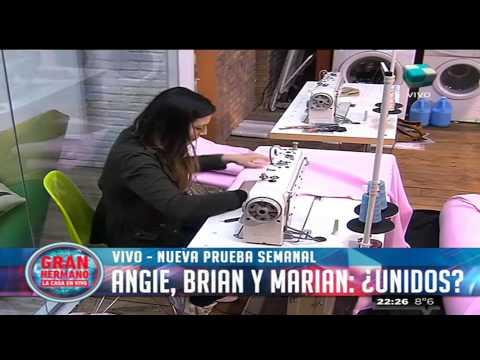 Marian, Angie y Brian, juntos en la prueba semanal