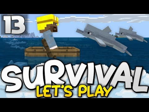 EXPLORING UPDATE AQUATIC!  Survival Lets Play Ep 13  Minecraft Bedrock PE W10 XB1