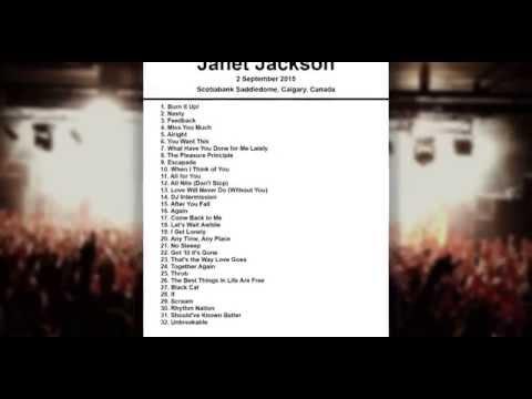 Janet Jackson Setlist - Scotiabank Saddledome - Calgary - Canada - 2 September 2015
