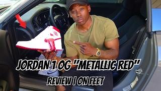 2017 jordan 1 metallic red og    review and on feet