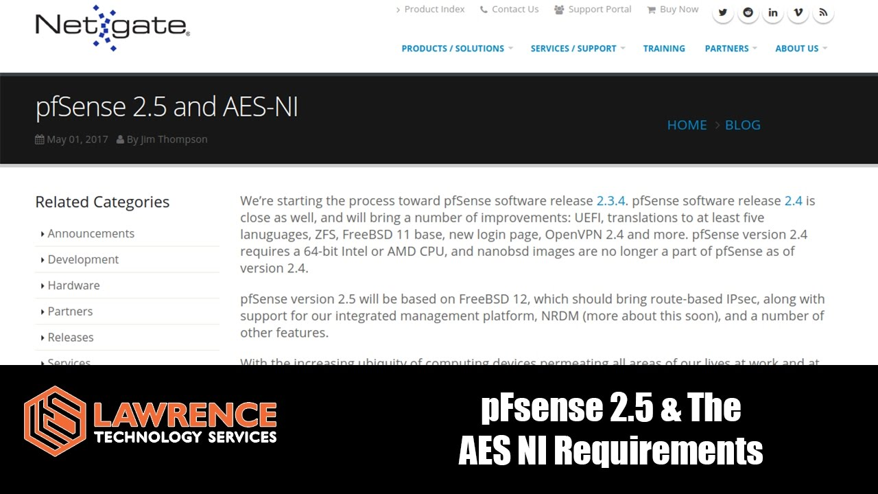 The pFsense 2 5 AES NI CPU Requirements