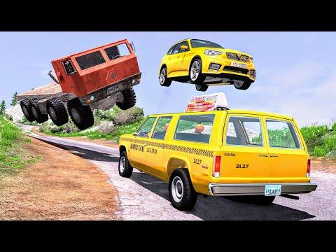 Realistic Cliff Drops #13 - BeamNG Drive Crashes   CrashBoomPunk