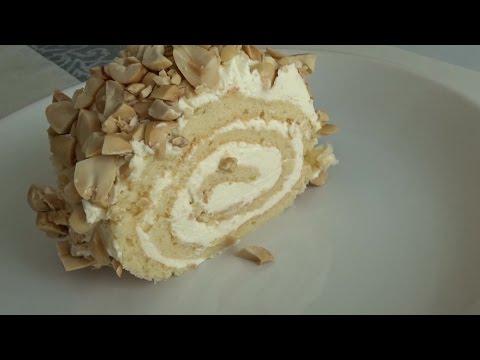 с с рулет бисквитный фото орехами рецепт