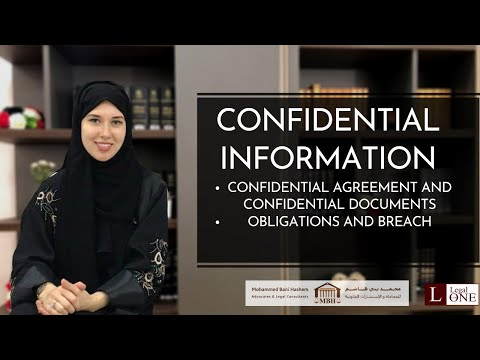 Meaning of confidential information in UAE