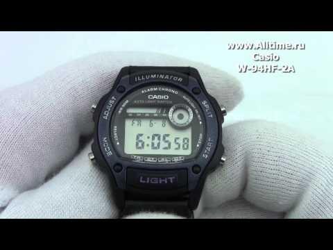1ff3d5e8 Мужские японские наручные часы Casio W-94HF-2A - YouTube