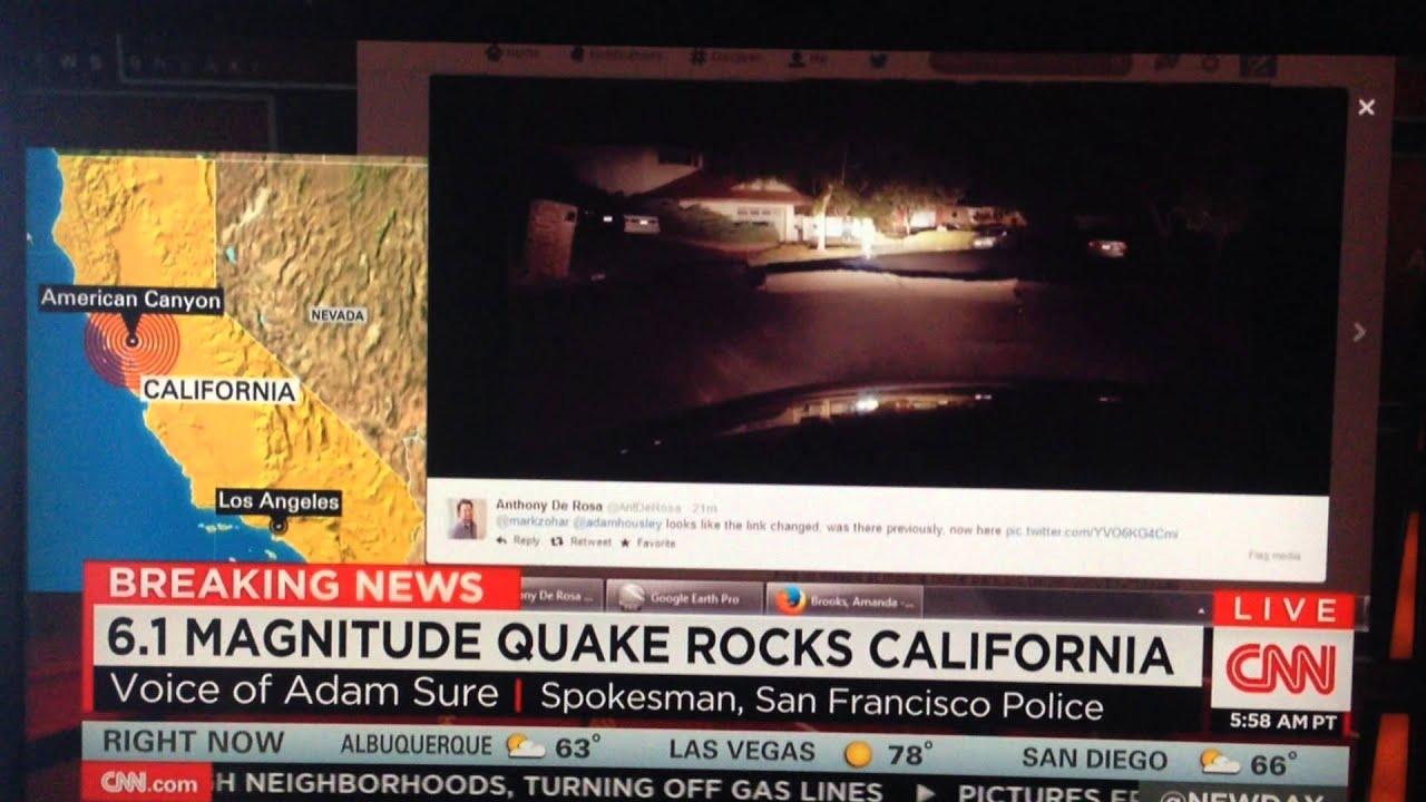Cnns San Francisco Earthquake Coverage Howard Sterns Buttcrack California Earthquakes 1 Turn Off Gas