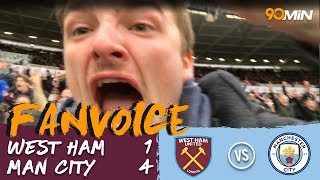 West Ham 1-4 Man City | City destroy West Ham 4-1! | 90min Fanvoice