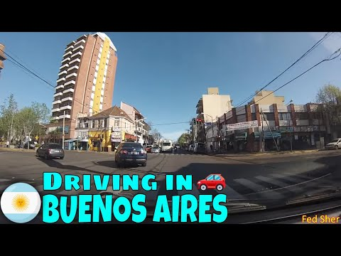 Driving in Buenos Aires (from La Lucila to Victoria)
