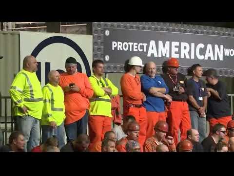 Trump touts tariffs during Granite City visit